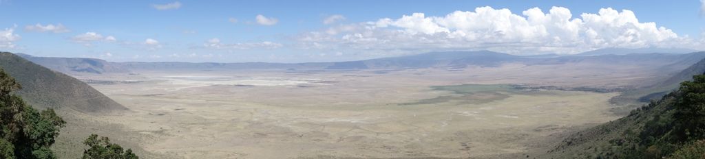 Ngorongoro Crater Rim Panorama