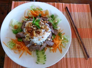 Southern style beef vermicelli