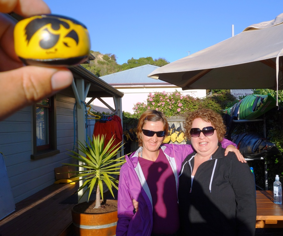 With friends in Kaikoura. Dolphins here we come!