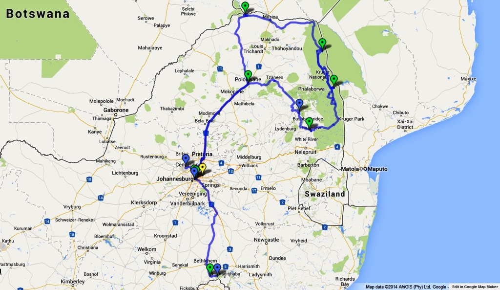 2980 km drive in South Africa