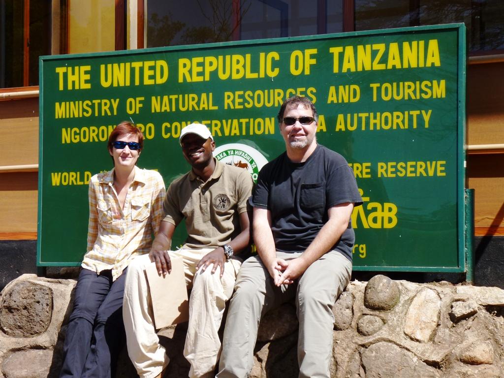 David and us at the Ngorongoro gate