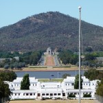 Mt. Ainslie from the Parliament House