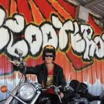 Mihaela, the biker!