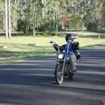 Old man riding