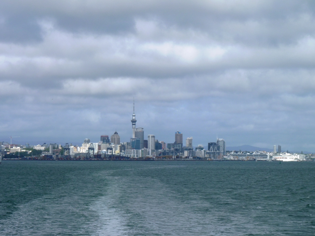 Auckland skyline from Hauraki Golf