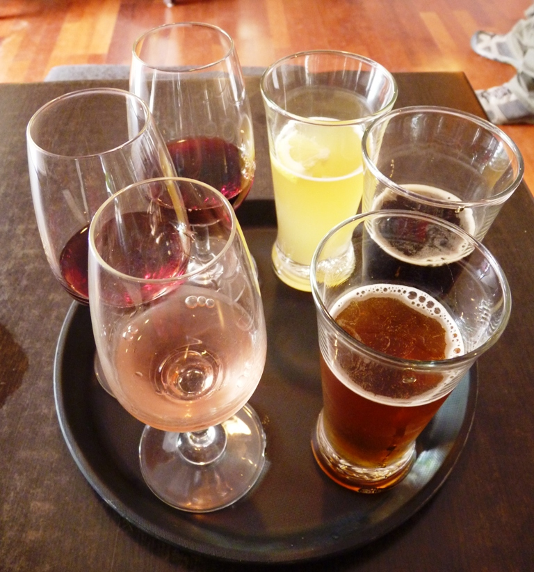 Beer samplers at Wild on Whiheke