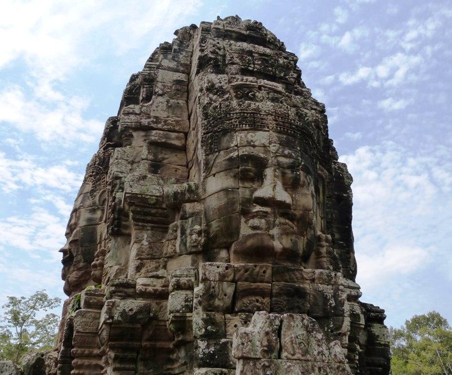 Buddha face in the Bayon Wat