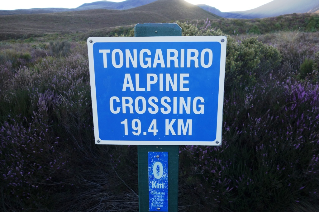 Tongariro Alpine Crossing starts at Mangatepopo car park