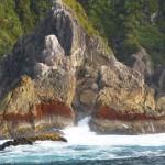 Rock formations on Tasman Sea