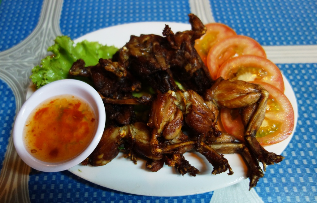 Fried frogs - they were pretty yummy