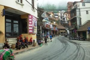 Sapa town in northern Vietnam