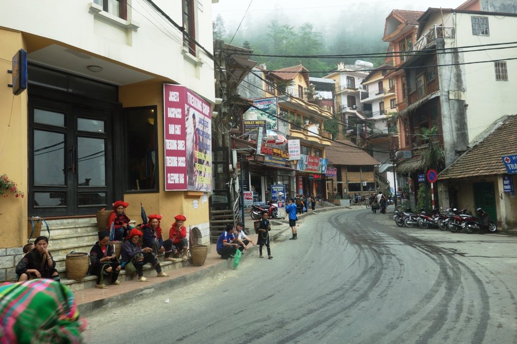 Sapa town in northern Vietnam