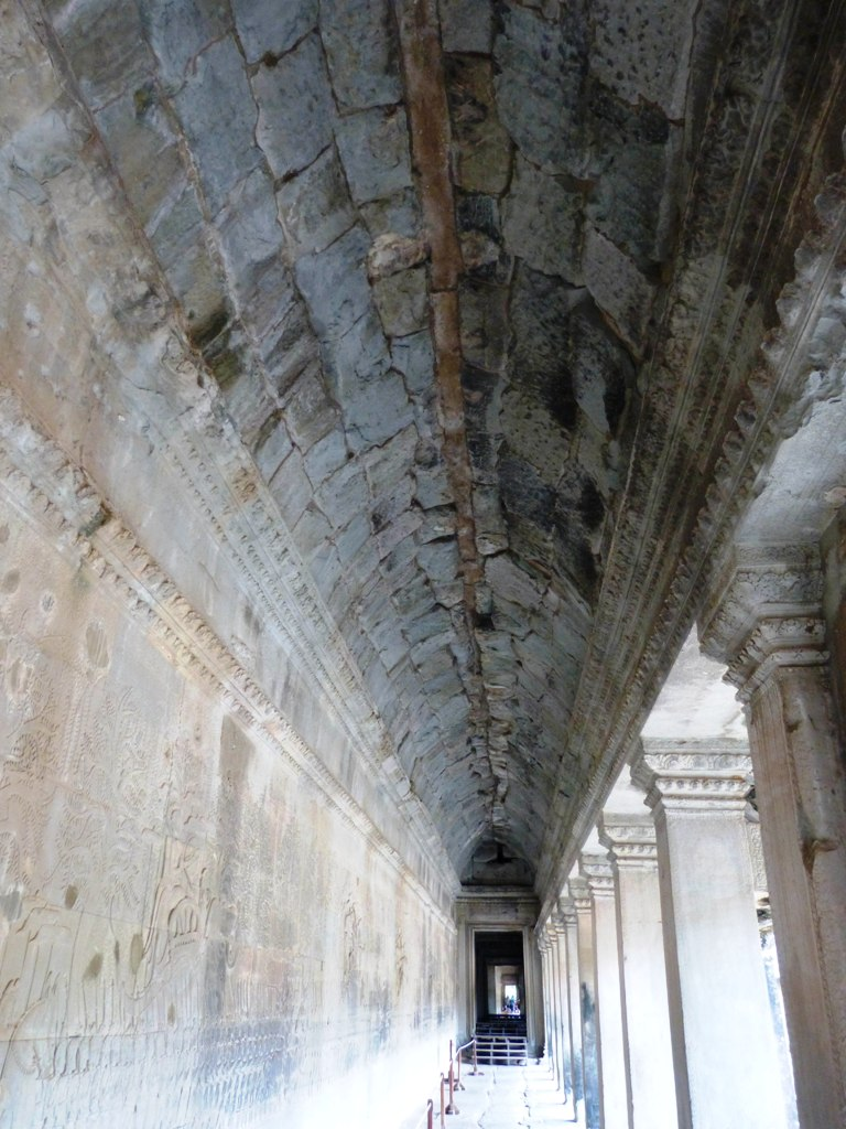 Churning of the sea of milk - 50 meters long bas-relief in Angkor wat