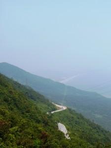Hai Van Pass - winding road at 435 meters above sea level