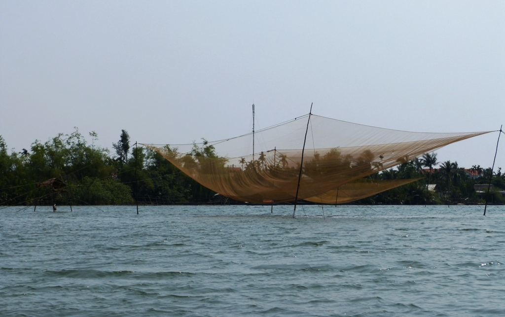 Squid nets on Thu Bon river