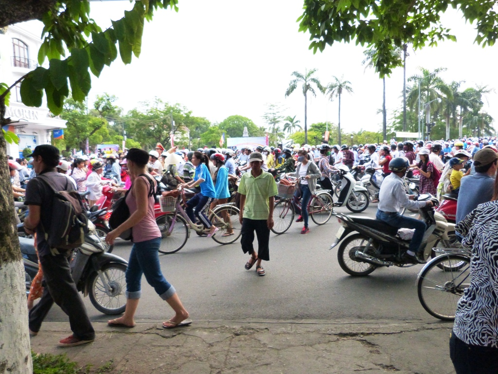 Hue crazy traffic - good luck trying to cross the street
