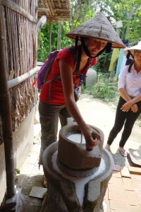 Making the rice milk and flour