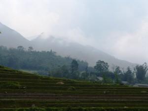 Phang Xi Pang - highest peak in Indochina at 3143 meters - in haze
