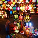 Hundreds of lamps like this are sold on the streets of Hoi An