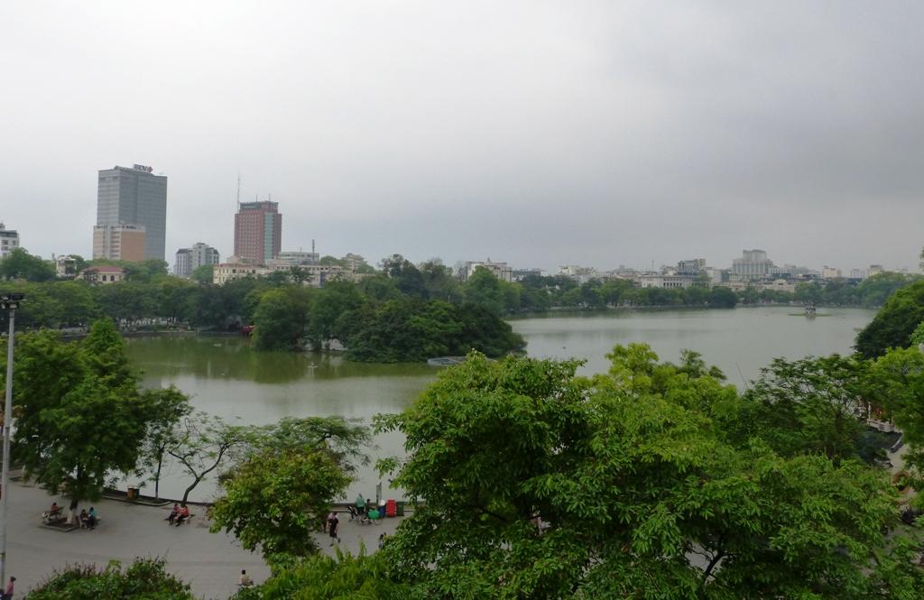 View over Hoan Kiem Lake