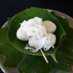 Sticky rice palm sugar balls