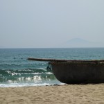 The Vietnamese version of a coracle - interwoven bamboo waterproofed with resin and coconut oil