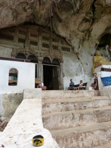 At the Pak Ou caves in Laos